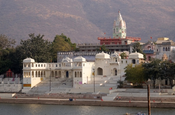 temples buildings and ghats at the