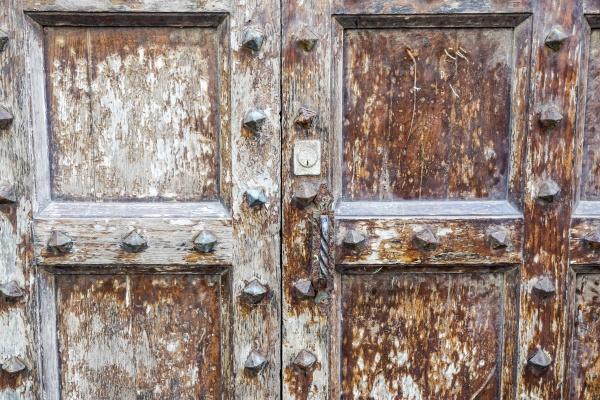 rusty metal door old door