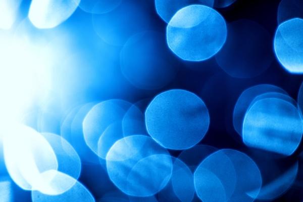 blue bubbles in back light