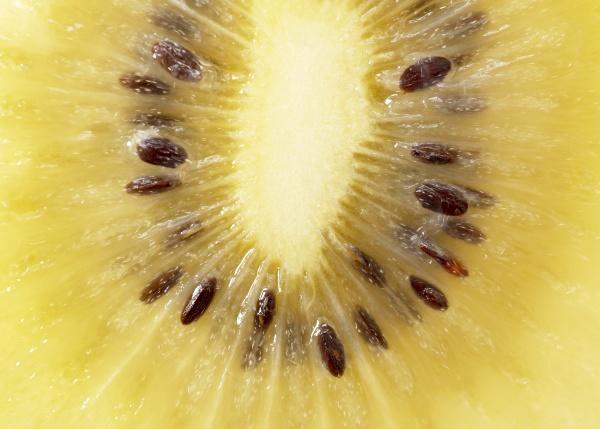 close up of a cut golden