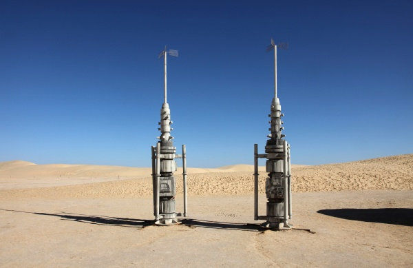 abandoned decorations for shooting star wars