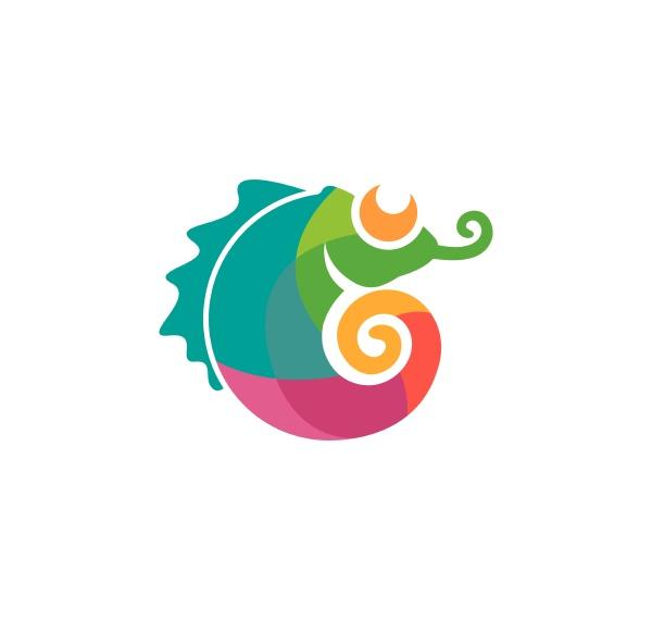chameleon vector icon logo illustration design