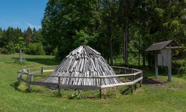 charcoal pile for presentation outdoors in