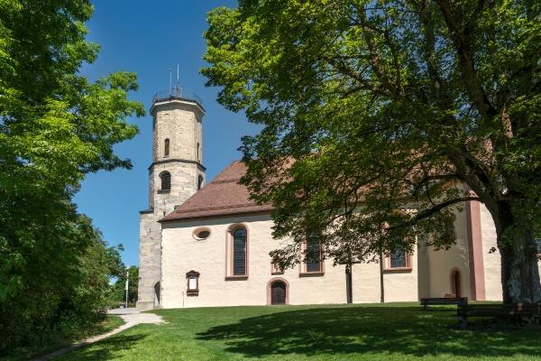 pilgrimage church on the mountain dreifaltigkeitsberg