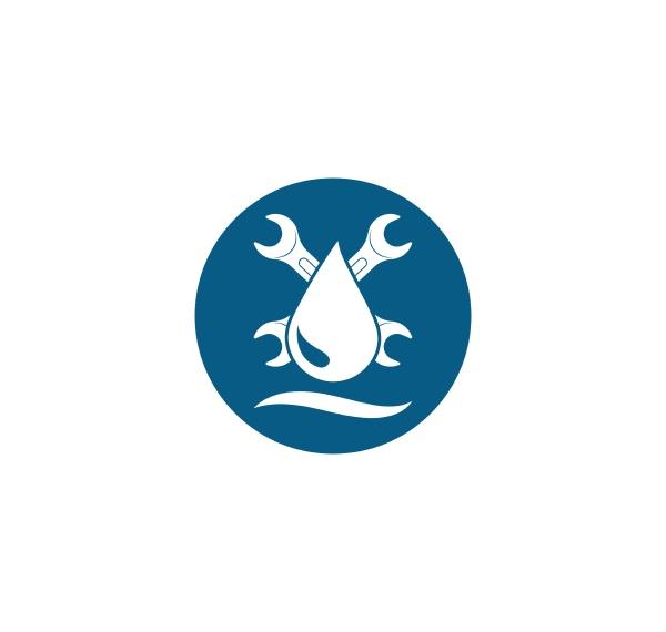 plumbing vector illustration logo icon