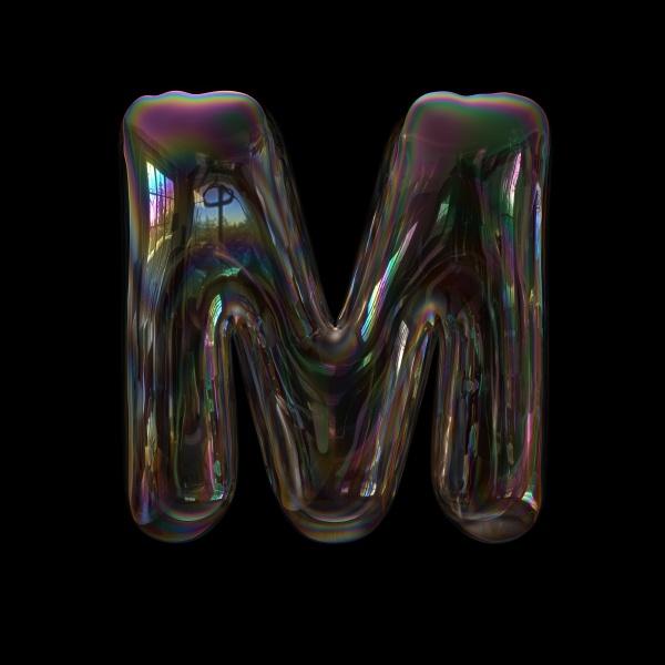 soap bubble letter m
