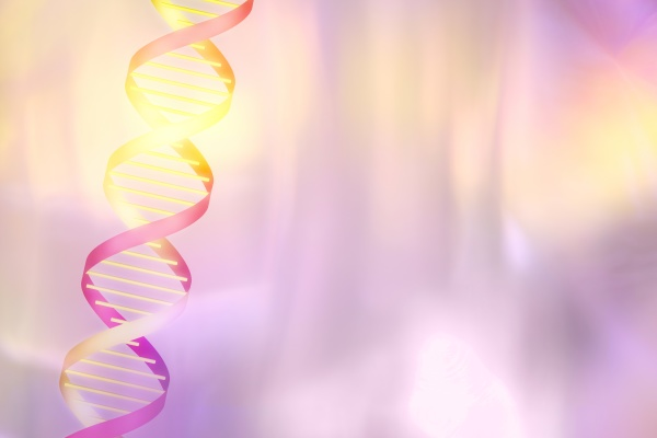 dna helix on pink pastel background