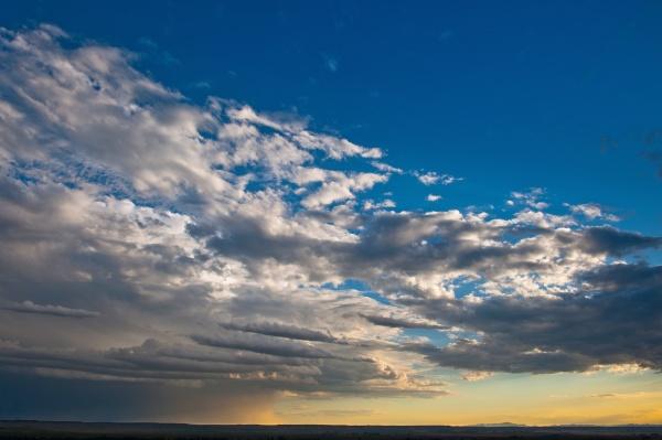 usa south dakota sunset with parting