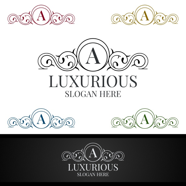 luxurious royal logo for jewelry wedding