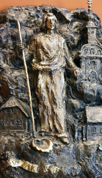 saint james bas relief in