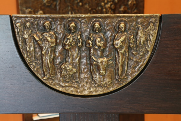 the evangelists bas relief on
