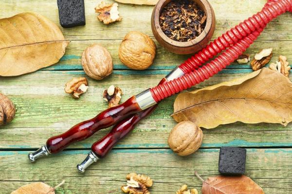 hookah with walnut