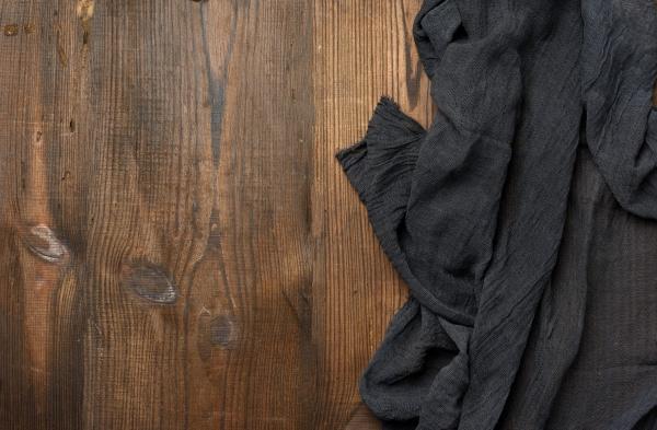 black gauze kitchen napkin on a