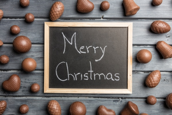 delicious christmas chocolate and sweets for