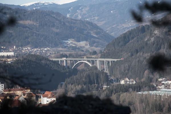 freeway or highway bridge for vehicle