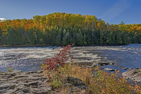 rocky rapids in the north woods