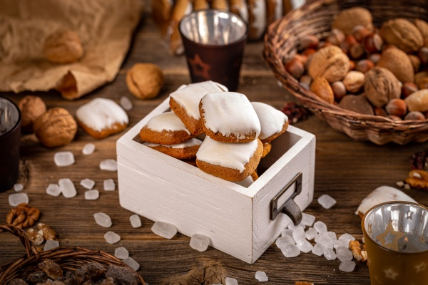 still, life, of, square, gingerbreads - 29073968