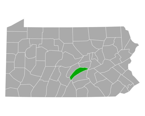 map of juniata in pennsylvania
