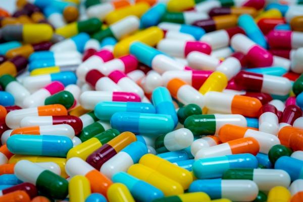 selective focus on multi colored antibiotic