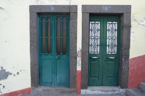 two green doors madeira