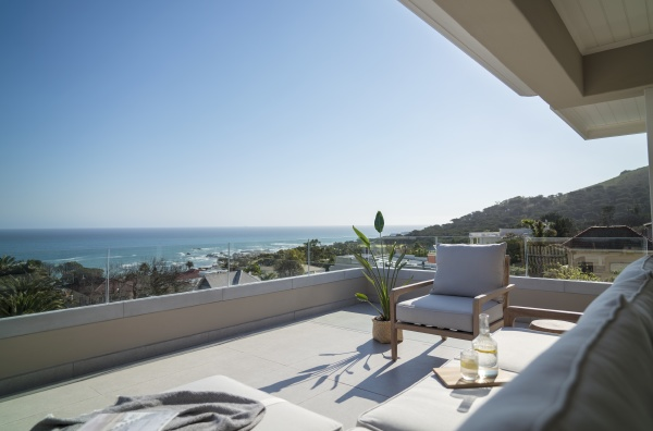 sunny scenic ocean view from luxury