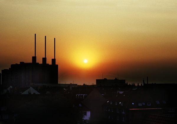 sunset in hnanover
