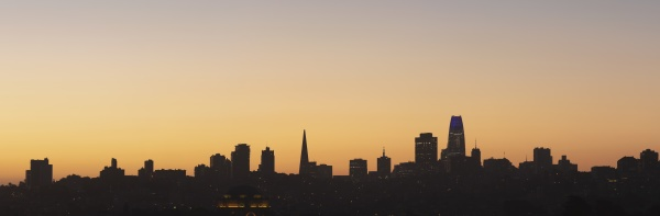 silhouette of building at san francisco