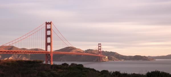 morning view of golden gate bridge