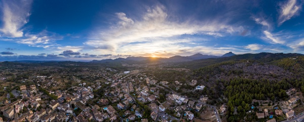 spain mallorca calvia helicopter panorama of