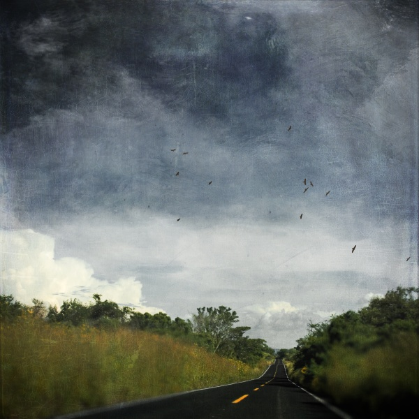 mexicao puebla country road textured effect