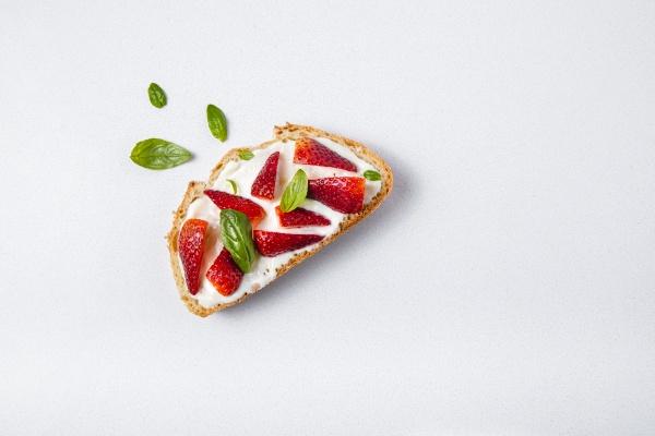 studio shot of slice of bread