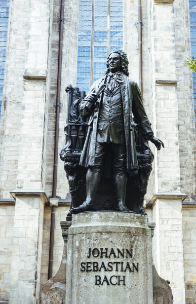 germany leipzig bach memorial in front