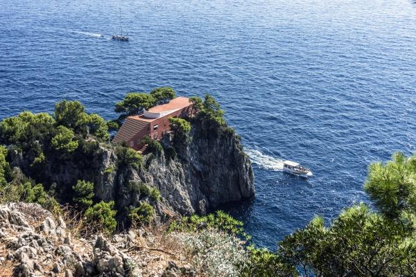 italy capri villa malaparte at punta