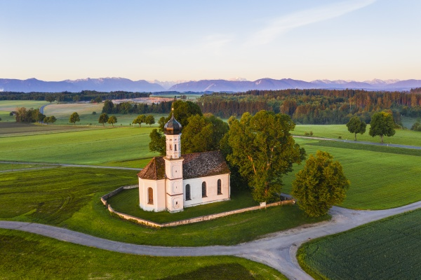 germany bavaria etting drone view of