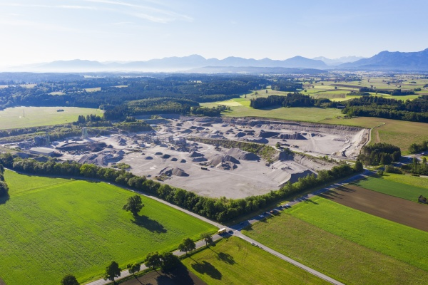 germany bavaria huglfing drone view of