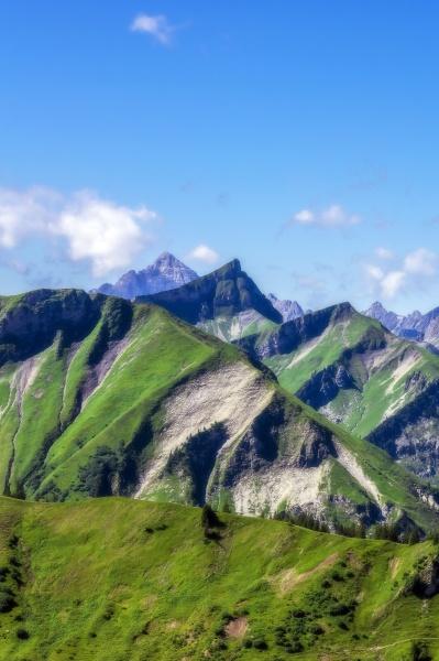austria tyrol scenic view of peaks