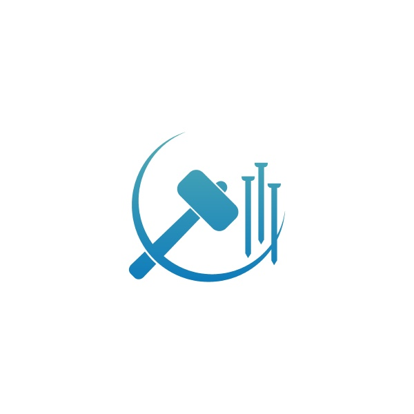 hammer icon logo design template illustration