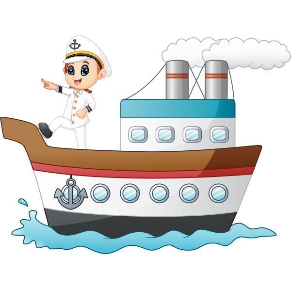 cartoon ship captain pointing on a