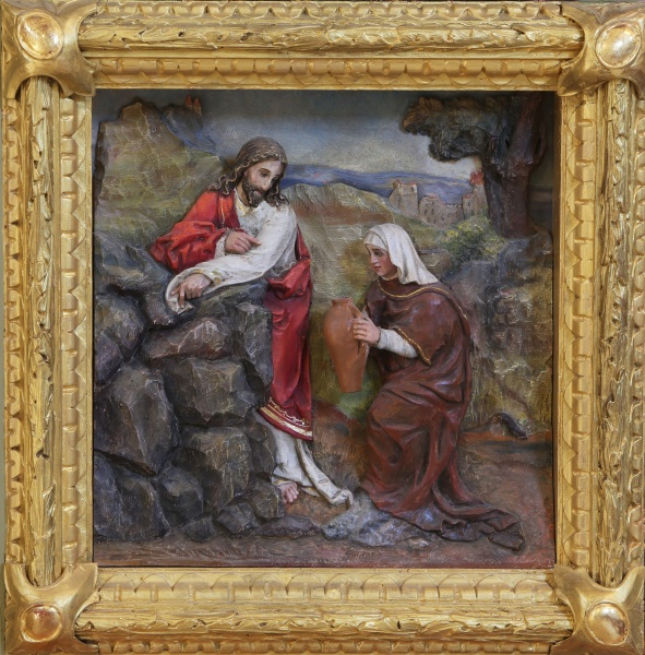 jesus and the samaritan woman relief