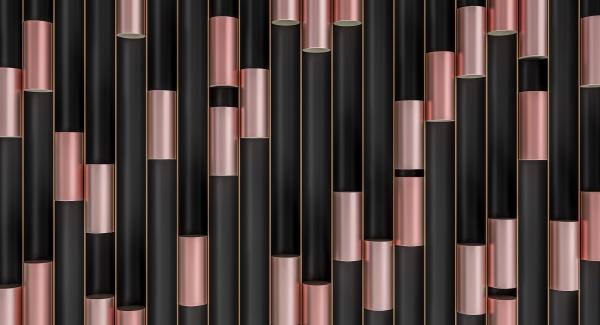 metallic cylinders in black tubes