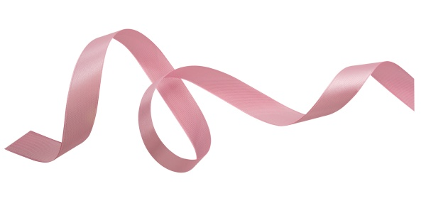 a pink ribbons isolated on a