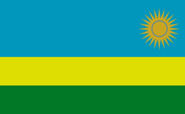 rwanda national flag in exact proportions