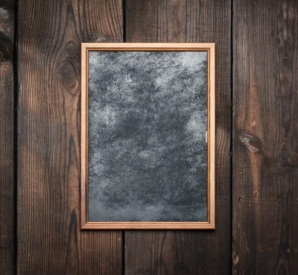 rectangular brown wooden frame on a