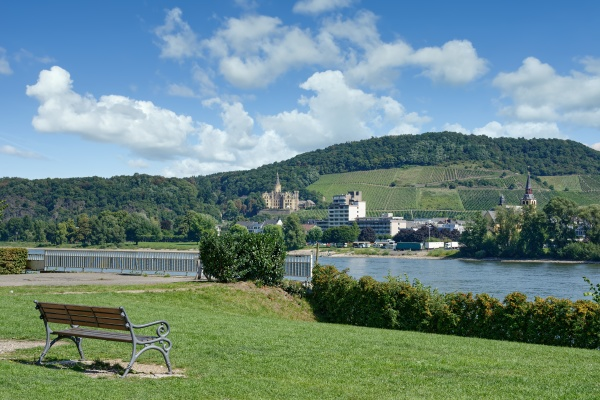 view from bad breisig over rhine