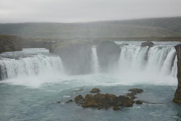 the godafoss icelandic waterfall of the