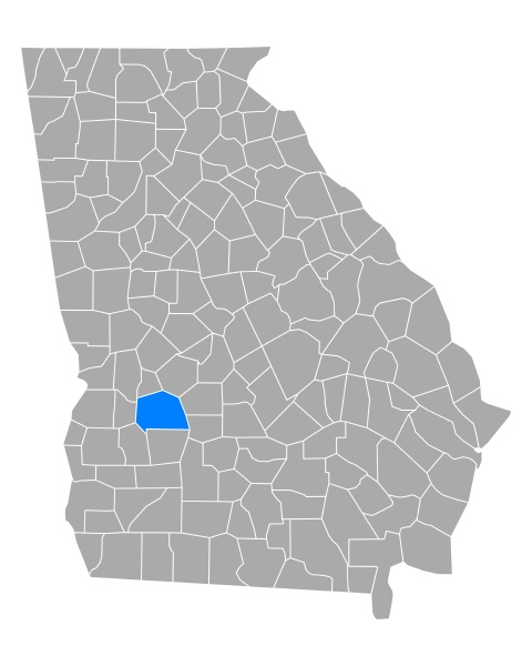 map of sumter in georgia