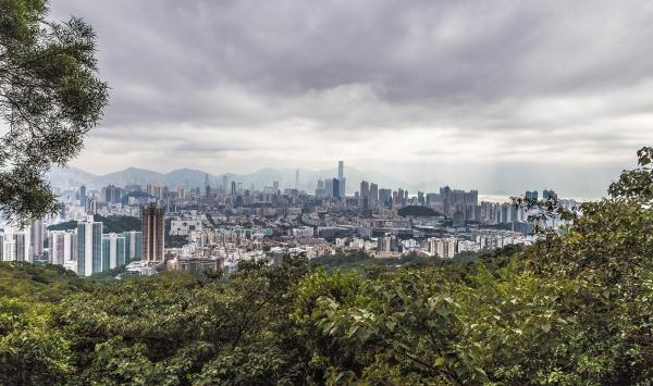 hong kong panorama from lion rock