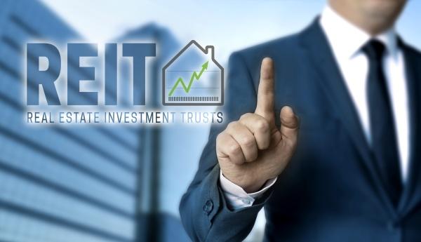 reit concept is shown by businessman