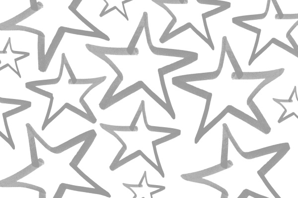 star pattern design in gray and
