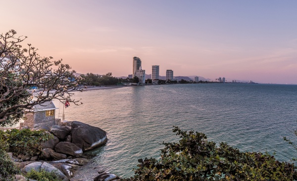hua hin skyline at sunset thailand